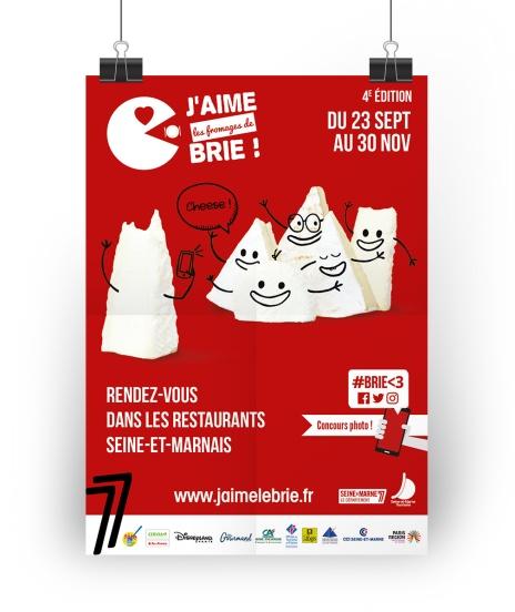 Affiche J'aime les Fromages de Brie édition 2016