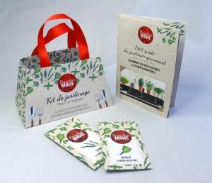 """Création d'un """"Kit de jardinage"""" pour répondre à une demande client de promotion d'une nouvelle gamme de produit"""
