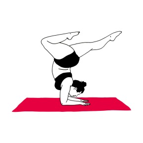 illustration femme woman yogi big grande taille yoga noir black rose pink drawing dessin féminité feminity celine deboudard @ginkgo9 graphiste