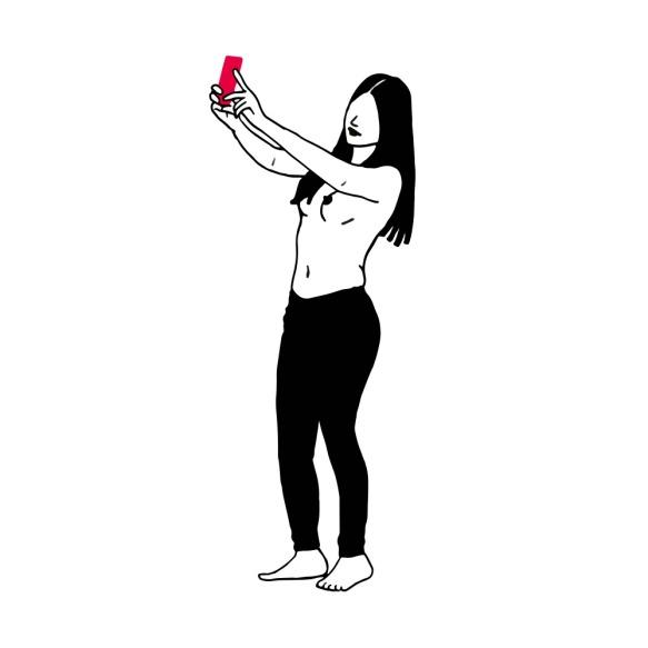 illustration femme woman sexto sextoteuse noir black rose pink drawing dessin féminité feminity celine deboudard @ginkgo9 graphiste